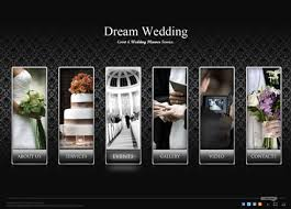 informational website templates dream wedding dynamic photo and video gallery admin flash