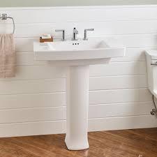 Floor Sink by Pedestal Sink American Standard