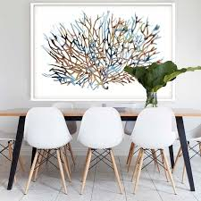Wanting To Create The Hamptons Style In Your Own Home This - Dining room framed art