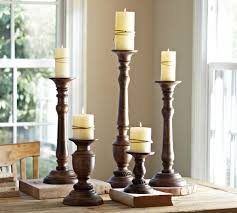 Home Interior Candle Holders Oxford Turned Wood Candle Holders Home Interior Ideas