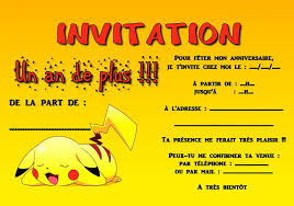 anniversaire theme pokemon invitation anniversaire pokemon invitation anniversaire
