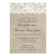 burlap wedding invitations burlap and lace wedding invitations rustic country wedding