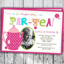 Princess Themed Birthday Invitation Cards Princess Tea Party Invitations Ideas For Your Princess