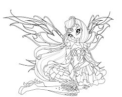 Bloom Bloomix Coloring Page By Babygreenlizard On Deviantart Coloring Pages Kpop