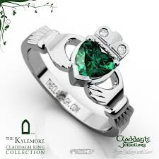 galway ring platinum kylemore emerald claddagh ring claddagh jewellers