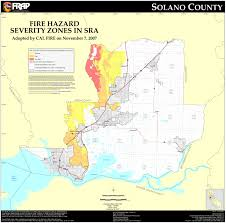 Ca Zip Code Map by Cal Fire Solano County Fhsz Map