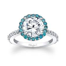 circle engagement ring with halo barkev s blue halo engagement ring 7839lbd