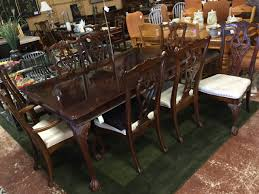 Mahogany Dining Room Table And 8 Chairs Universal Mahogany Dining Table 2 Leaves Pads 8 Chairs