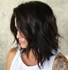 long bobs with dark hair 80 sensational medium length haircuts for thick hair in 2018