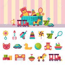 illustration chambre bébé jouets plein enfant dans des boîtes pour les enfants jouent