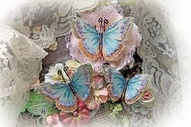 Wedding Decoration Home Reneabouquets Butterfly Set Spun Sugar Glitter Glass Butterflies