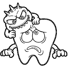 tooth coloring pages printable dental halloween coloring pages