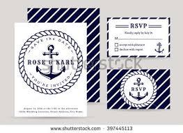 Wedding Invitations Nautical Theme - nautical wedding invitation card sea theme stock vector 404027779