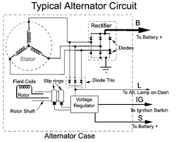 car alternator voltage regulator wiring diagram circuit and