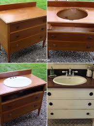 Repurposed Bathroom Vanity by Repurpose An Old Dresser Into A Bathroom Vanity Ideas Nature And
