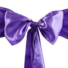 Purple Chair Sashes Balsacircle 5 New Satin Chair Sashes Bows Ties Wedding Party
