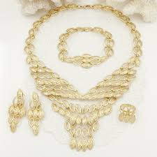 gold necklace design sets images Italian fashion v necklace design dubai gold jewelry sets women jpg