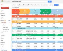 Estate Lead Tracking Spreadsheet by Streak Crm For Gmail