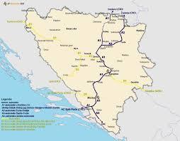 Bosnia Map Bih Bosnia And Herzegovina Road Infrastructure Page 86