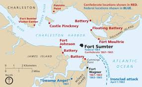 Brandeis Map Attack On Fort Sumter Map My Blog