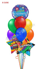 retirement balloons delivery retirement balloon bouquet 9 balloons balloon delivery by