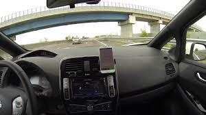 nissan leaf miles per kwh nissan leaf 2016 30 kwh consumo 130 km h autonomia youtube