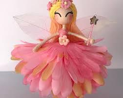 fairy cake topper flower petal doll vire girl doll birthday cake
