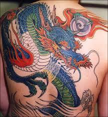 large colorful shoulder back japanese tattoo dragon pinterest