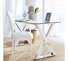 Home Office Glass Desks Metal Desk Pottery Barn