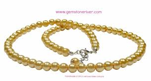 yellow pearl bracelet images Lemon yellow pearl necklace bracelet earring set gemstoneriver jpg