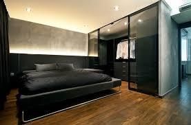modern bed room elegant wardobe with black bed for modern bedroom ideas for men