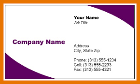 Creating Business Cards In Word Business Card Templates