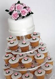 cupcake and cake stand weddings cakes by clare chandler