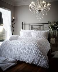 Luxury White Bed Linen - luxury bed linen elastic crinkle duvet quilt cover u0026 pillowcase