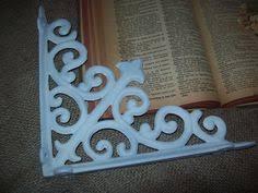 Shabby Chic Shelf Brackets by Think Christmas Hanging Lantern Set Pair Painted Wood Board