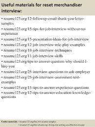 Merchandising Resume Examples by Top 8 Reset Merchandiser Resume Samples