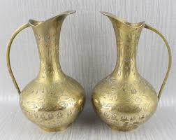 Metal Jug Vase Metal Jug Etsy