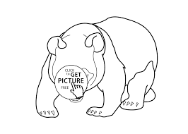 panda bear animals coloring pages for kids printable free