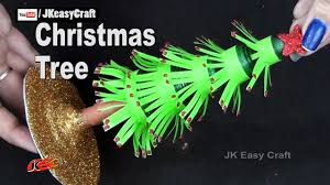 how to make paper christmas tree easy christmas craft for kids