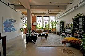 refreshing industrial loft apartment decorating selection showing