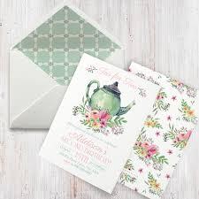 watercolor tea party birthday invitation tea for two birthday
