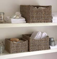 Wicker Basket Bathroom Storage 34 Best Bath Shower Images On Pinterest Bathroom Cabinets