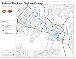 Map Of Richmond Virginia by What U0027s The Plan Bike Share