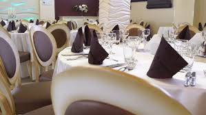 Restaurant Decoration Interior Of A Wedding Hall Decoration Ready For Guests Beautiful