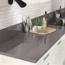 plan de travail cuisine effet beton plan de travail stratifié effet métal anthracite brillant l 300xp
