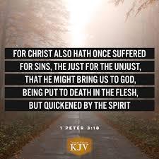 kjv verse of the day 1 peter 3 18 christians pinterest