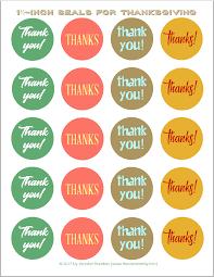thanksgiving stickers envelope seals