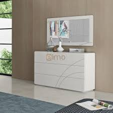 commode chambre adulte design commode design moderne 3 tiroirs façade décor laque brillante carrie