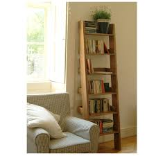 Narrow Ladder Bookcase by Oak Shelf Ladder Narrow Free Delivery Offer The Blue Door