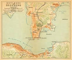 printable maps hong kong old map of hong kong old city map print hong kong fine print